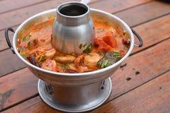 Кислый суп креветки Стоковое фото RF
