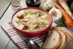 Кислый суп сделанный из муки рож Стоковые Изображения RF