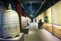 Китаец Азии, Пекин, ¼ Œ exhibitionï ŒIndoor ¼ Dazhongsi старое колокола Museumï Стоковое Фото
