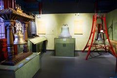 Китаец Азии, Пекин, ¼ Œ exhibitionï ŒIndoor ¼ Dazhongsi старое колокола Museumï Стоковое Изображение