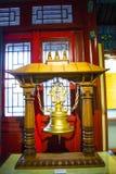 Китаец Азии, Пекин, ¼ Œ exhibitionï ŒIndoor ¼ Dazhongsi старое колокола Museumï Стоковое Изображение RF