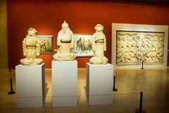 Китаец Азии, Пекин, китайский музей изобразительных искусств, крытая скульптура ŒFigure ¼ hallï выставки, Стоковые Фотографии RF