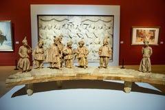 Китаец Азии, Пекин, китайский музей изобразительных искусств, крытая скульптура ŒFigure ¼ hallï выставки, Стоковое Изображение RF