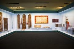 Китаец Азии, Пекин, Национальный музей, русская национальная выставка культурных реликвий Стоковые Фотографии RF
