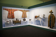 Китаец Азии, Пекин, Национальный музей, русская национальная выставка культурных реликвий Стоковое фото RF