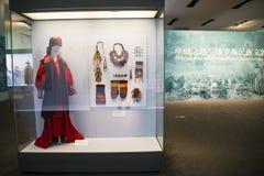 Китаец Азии, Пекин, Национальный музей, русская национальная выставка культурных реликвий Стоковое Фото