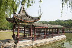 Китаец Азии, Пекин, северный дворец, Forest Park, архитектура сада, павильон, галерея стоковая фотография rf
