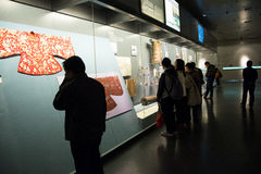 Китаец Азия, Пекин, прописной музей, старая столица выставки Пекина, исторических и культурных Стоковое Изображение