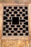 Китаец Азия, традиционный архитектурный стиль, деревянные двери и окна Стоковое Изображение RF
