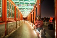 Китаец и старинные здания Стоковое Фото