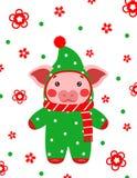 Китаец открытки свиньи счастливого Нового Года милый стоковые фото