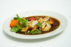 Китаец супа гриба цыпленка Стоковое Фото