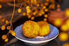 Китаец, фестиваль, реюньон, фестиваль Средний-осени, благодарность луны, торт луны, стоковая фотография rf