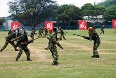 Китайская армия в гарнизоне Гонконга Стоковая Фотография RF