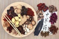 Китайская альтернативная фитотерапия стоковые изображения rf
