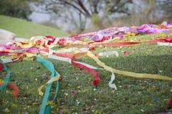Китайская бумага процесса традиции и культуры покрашенная положила дальше gra Стоковое фото RF