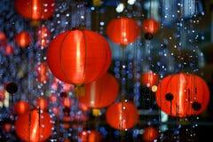 китайская бумага фонарика Стоковое Изображение