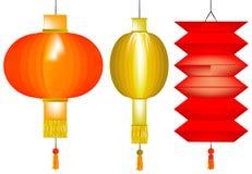 китайская бумага фонариков иллюстрация штока