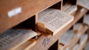 Китайская бумага forcast удачи виска, традиционный Шв-Si, cim Kau, рассказчик будущего Хи-хиа Предсказанные sooth бумаги высказыв сток-видео