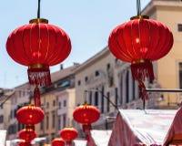 Китайская бумага Lanters Стоковая Фотография RF
