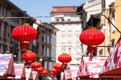 Китайская бумага Lanters Стоковое Фото