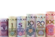Китайская валюта в крене Стоковое фото RF