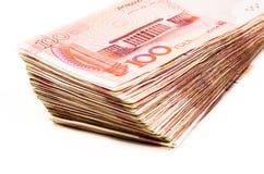 Китайская валюта банкноты юаней Стоковое Изображение