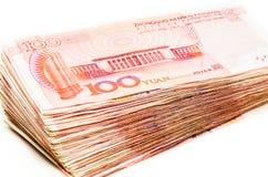 Китайская валюта банкноты юаней Стоковая Фотография RF