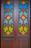 Китайская дверь виска в городе Гуанчжоу Стоковая Фотография