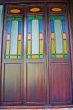 Китайская дверь виска в городе Гуанчжоу Стоковое Изображение