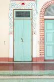 Китайская дверь виска с уникально китайской картиной Стоковые Изображения RF