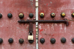 китайская дверь старая Стоковое Изображение