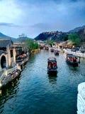 китайская вода села стоковое фото