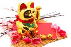 Китайская восточная удачливая диаграмма кота Стоковое Фото