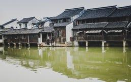 китайская вода городка Стоковые Изображения RF
