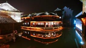 китайская вода городка Стоковая Фотография