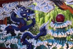 китайская вода дракона Стоковая Фотография