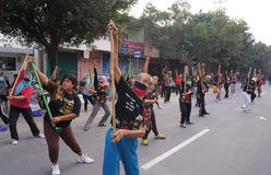 Китайская гимнастика Стоковое фото RF