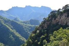 Китайская гора с деревьями Стоковые Изображения RF