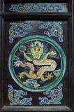 Китайская дверь дракона Стоковые Изображения
