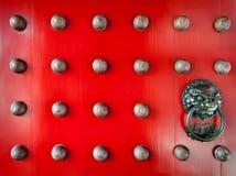 китайская дверь старая Стоковая Фотография