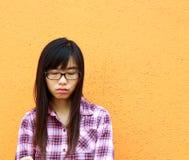 китайская девушка унылая очень кто Стоковое фото RF