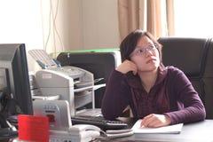 китайская деятельность женщины Стоковые Фотографии RF
