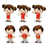 Китайская девушка мальчика Стоковые Фотографии RF