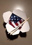 китайская еда США флага контейнера Стоковое Изображение