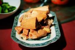 китайская еда холодной тарелки стоковое фото