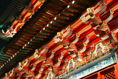 Китайская деталь архитектуры стоковая фотография