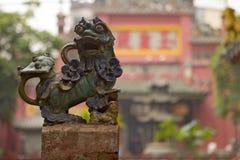 Китайская деталь льва Стоковая Фотография RF
