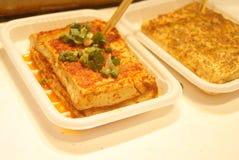 Китайская еда: Зажаренное тофу стоковые изображения rf