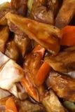 китайская еда Зажаренные aubergines с овощами Стоковая Фотография